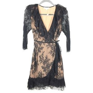 NEW Francesca's | Full Lace Wrap Dress